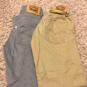 Gray and Khaki Levi pants